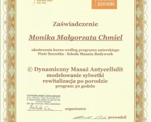 masaż antycellulitowy modelowanie sylwetki Bydgoszcz Salon Kosmetyczny Monika Sulecka Calm Kosmetyka