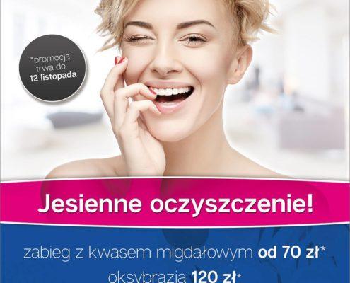 gabinet kosmetyki i masażu Bydgoszcz salon kosmetyczny oksybrazja zabieg z kwasem migdałowym oczyszczanie twarzy mikrodermabrazja